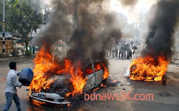 Dhaka brennt